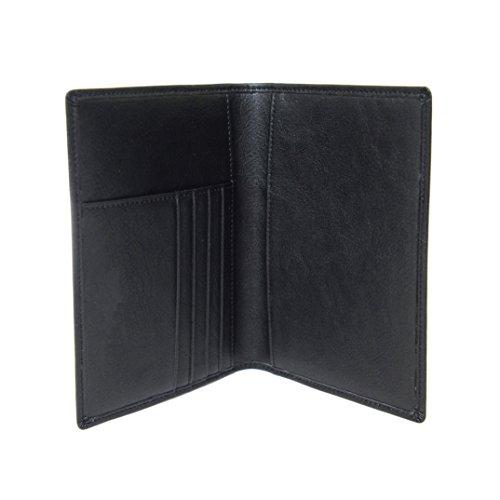 Porta Pasaporte/Funda de Nomalite | Organizador de Documentos de Viaje Hombre y Mujer con protección RFID, Cartera Piel en Cuero sintético Negro y 4 Huecos para Tarjeta de crédito y Billete.