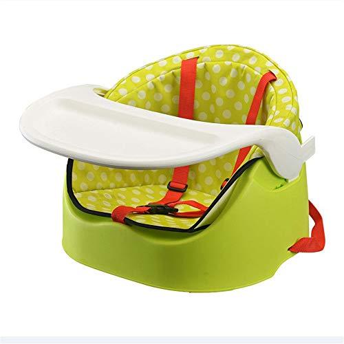 Kinder Schreibtische Tablett Sicherheitsgurt Dauerhafter Anti-Rutsch-Schutz Komfortabel Geeignet Abnehmbarer Kindersitz Hochstuhl Füttern Reisekinderstuhl ( Farbe : Grün , Größe : 39*37.5*30cm )