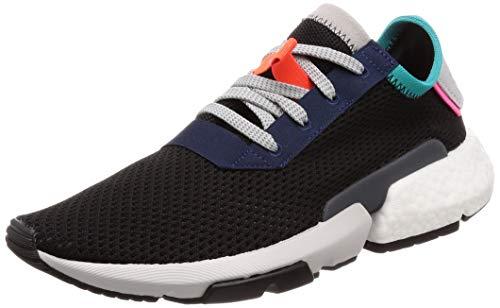 adidas Pod-s3.1, Zapatillas de Gimnasia Hombre, Negro (Core Black/Core Black/Solar Red), 42 2/3 EU
