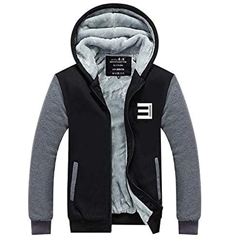 Wellgift Herren Winter Jacke Kapuzenpullover Zipper Hoodie Cosplay Plus Samt Dicke Sweatshirt Kostüm für ErwachseneDamen Kleidung Mantel