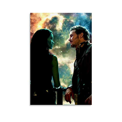 Guardians of The Galaxy Movie Poster,Star Lord,Gamora Decor Poster Canvas Prints Wall Art for Home and Office Decorations Ready to Hang 20x30inch(50x75cm)