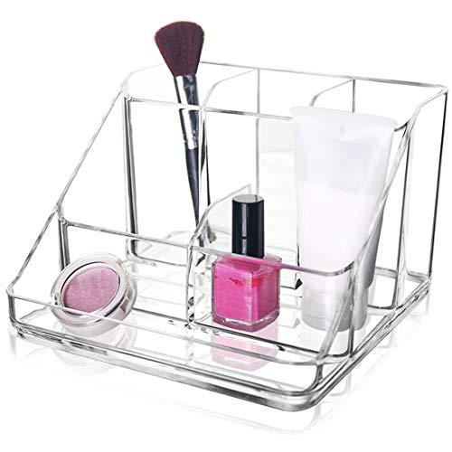 KUANDARMX Organisateur de Maquillage Détachable Grand Organisateur Cosmétique Titulaire Plateau De Stockage De Bureau Boîte De Rangement Multicellulaire Classification Transparente Boîte, White