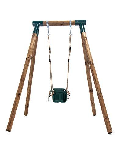 5. Columpio de madera para jardín