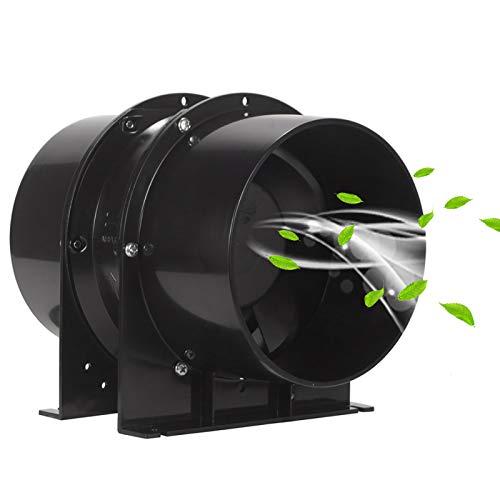 HG POWER Exhaust Inline Duct Fan Booster Extrator Inline Fan Aluminum Alloy Housing Inline Fan for Kitchen & Bathroom (6 inch)