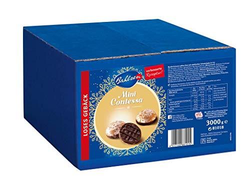 Bahlsen Mini Contessa – kleine runde Lebkuchen mit Schokoboden – lecker und würzig – praktische Großpackung mit circa 349 Stück – idealer Vorrat zu Weihnachten – loses Gebäck, 1er Pack (1 x 3 kg)