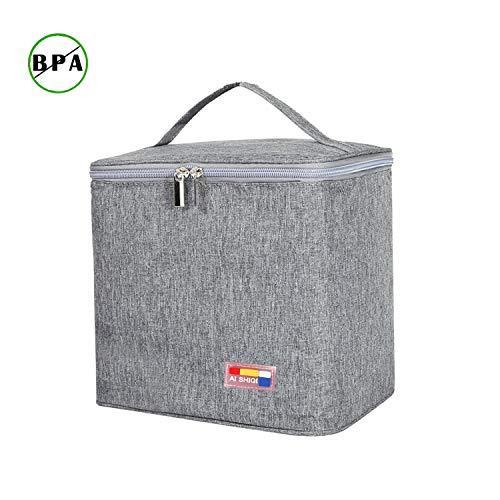 Kühltasche Thermotasche Kühltaschen Boxen Picknicktasche Lunchtasche Mittagessen Tasche Isoliertasche für Lebensmitteltransport Faltbar Wasserdicht QH2