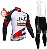 BSGB Long Sleeve Cycling Wear Suit Warm 5D Rubber Pad MTB Cycling Jersey Suit for Cycling/Running