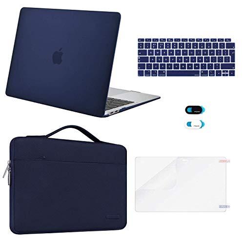 MOSISO Funda Dura Compatible con 2020-2018 MacBook Air 13 A2337 M1 A2179 A1932, Plástico Carcasa Rígida & Funda Protectora & Protector de Pantalla & Piel de Teclado & Cubierta