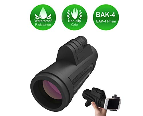 High Power Monocular Pocket Monoculars 10X42 Small Telescope Spotting Scope for Hunting Accessories and Range Finder, for Smartphone Cell Phone Scope, Best Gifts for Men or Dad