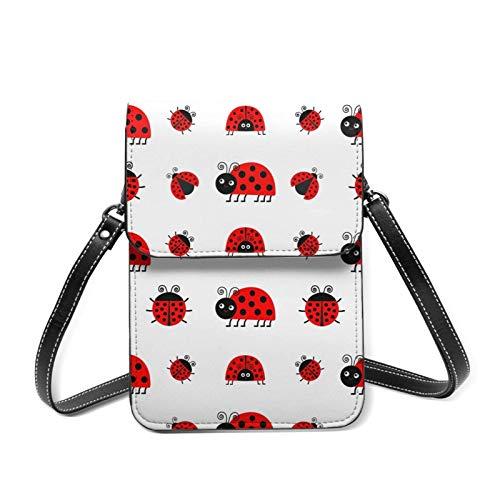 Lindo Lady Bug ligero Crossbody para teléfono celular bolso para las mujeres espaciosos bolsillos