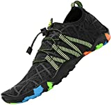 Zapatos de Agua Mujer Escarpines Piscina Secado Rápido Zapatillas para Nadar Calzado para Vela Negro 37 EU