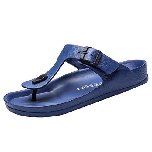Fannyfuny_Zapatos Hombres Unisexo Mujeres Zapatillas de Playa Chanclas para Hombre Sandalias Verano de Casa Zapatillas de Trabajo Unisex Zapatos de Playa y Piscina Flip Flop Sandalia Playa