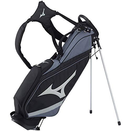 MIZUNO(ミズノ) ゴルフ キャディバッグ ツアー スリム スタンド メンズ 軽量 約2.0kg 7型(57cm)/47インチ対応/4分割 ブラック 5LJC202600