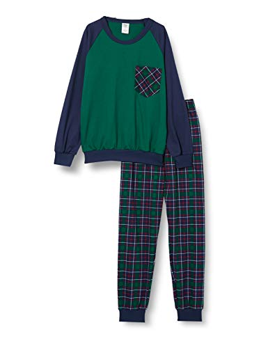 CALIDA Jungen Family & Friends Pyjamaset, Holly Green, 152