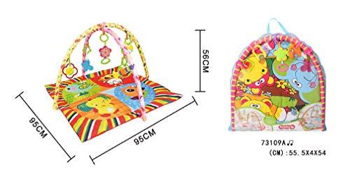 ZWQ kids Couverture de Jeu multifonctionnelle de Musique pour bébé 0-2 Ans éducation précoce Puzzle Tapis d'escalade marionnette Jouet Rampant,I