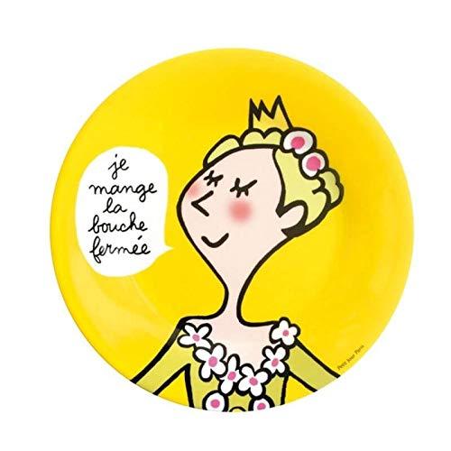 Assiette à dessert Princesse enfant La bouche fermée - Petit Jour Paris