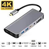 WU-MINGLU USB C Ethernet HDMI Adapter Samsung Dex Station for Samsung S8/S8+/S9/Note8, Type C to 4k...