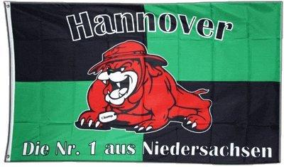 Fahne / Flagge Hannover + gratis Sticker, Flaggenfritze®
