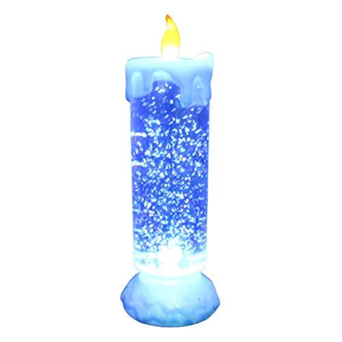 SHARRA LED Kerzen, Bunte Kristallkerze Nachtlicht Flammenlose Kerzen Farbwechsel Kerzenlicht Dekoration für Weihnachtsferien