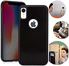 Wingcases for iPhone XR Anti Gravity Case, Black Suction Stick on The Smooth Surface Mirror Glass with Dust Proof Film