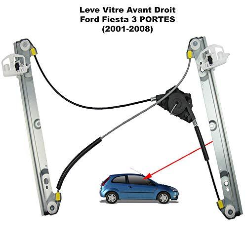 APDISTRIBUTION Mecanisme de Leve Vitre Electrique sans Moteur Avant Droit Passager pour Fiesta V (3 Portes) 1233191