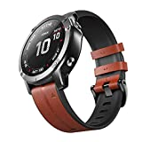 ANCOOL Compatible with Fenix 5X Band, 26mm Easy-fit Genuine Leather and Soft Silicone Watch Band Replacement for Garmin Fenix 5X Plus/Fenix 6X/D2 Delta PX/Descent Mk2 Smartwatches (Dark Brown)