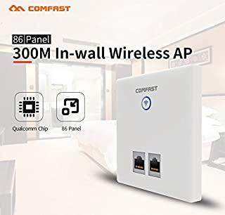 Comfast 300Mbps Wireless In-wall AP for Large Area WiFi Coverage Support AC Management & RJ45 + RJ11 Wall AP CF-E535N-R-W