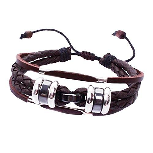 Cool Fashion Cuir réglable Sangles décoration Bracelet pour les hommes