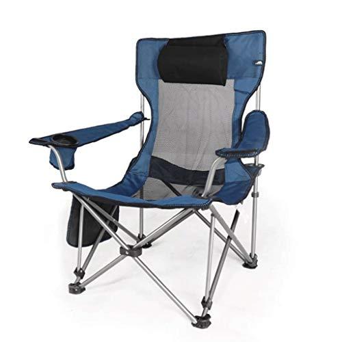 JYQ-SZRQ Silla de Camping Plegable Marco portátil de Playa al Aire Libre reclinable de Acero Resistente Silla del Brazo con el Titular de la Copa de Exteriores/Interiores 110 kg Soporte