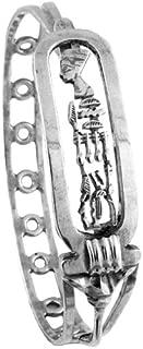 Egyptian Jewelry Silver Nefertiti Cartouche Bangle