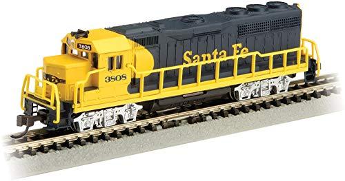 EMD GP40 Diesel Locomotive SANTA FE #3808 (blue & yellow) (with dynamic brakes) - N Scale