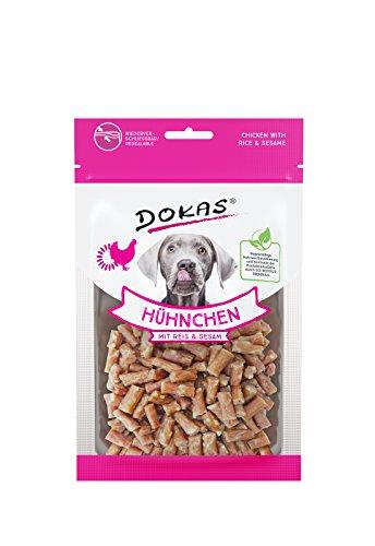 DOKAS Glutenfreier Premium Snack in praktischer Größe für Hunde – Ideal zum Training