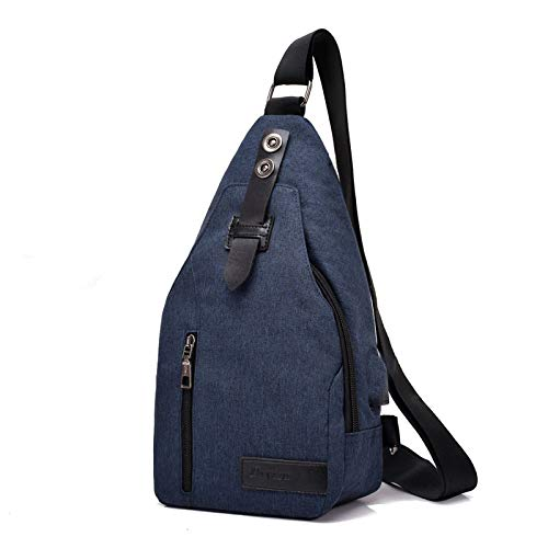 XUEQQ Brusttasche Brust Tasche männlichen Crossbody Tasche einzigen Schultertasche Canvas Tasche Anti-Diebstahl-Rucksack Outdoor Sport wasserdicht Handtasche FEMA Le-Bag USB