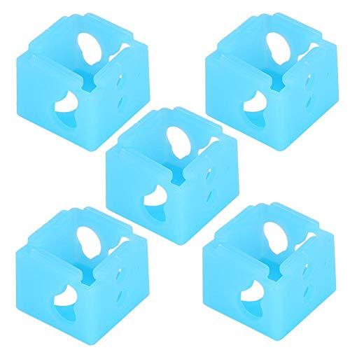 Kafuty-1 5 piezas de la impresora 3D XCR-NV6 Bloque calefactable impresora 3D calcetines de silicona calcetín de silicona extrusor bloqueo de calentamiento cubierta protectora