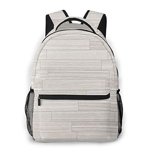 Lässiger Rucksack Graues Parkett Männer und Frauen Lässiger Stil Leinwand Rucksack Schultasche,