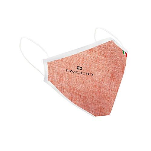 Mascherina in tessuto, certificate, superleggere per una perfetta respirabilità, lavabili, riutilizzabile ed eco sostenibili, taglia L arancione