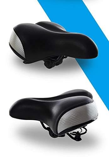 Fietszadel, comfortabele anti-shock, verstelbare zitting, antislip, voor mountainbike-fietskussens, comfortabel, dik