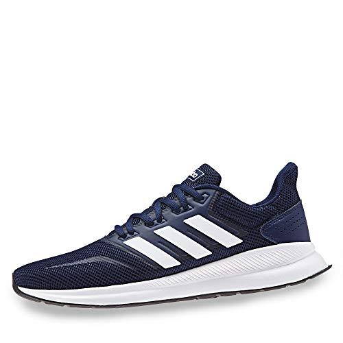 adidas Herren Runfalcon Laufschuhe, Blau (Dark Blue/Footwear White/Core Black 0), 42 EU