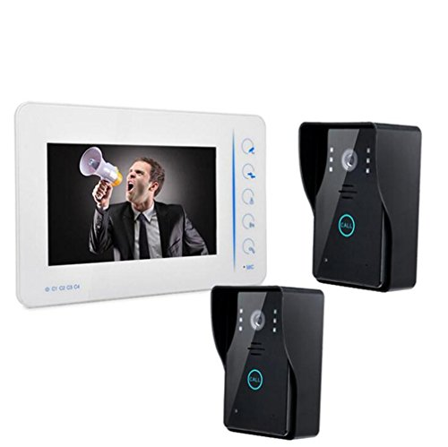 FOOSKOOML Video Deur Telefoon Deurbel Intercom Systeem Waterdichte Bedraad Digitale HD Video Deurbel Home Touch High Definition Video Deur Telefoon Deurbel Eenheid Set