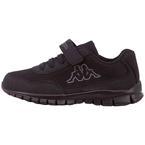 Kappa Jungen Unisex Kinder Follow OC Sneaker, 1116 Black/Grey, 30 EU