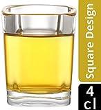 [page_title]-12 Schnapsgläser Set Glas 4cl Eckig - Standfest - Spülmaschinenfest - Gläser für Tequila Wodka