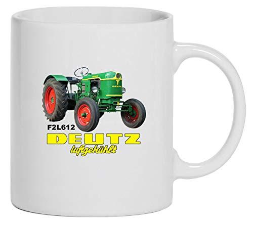 Bimaxx Traktor Tasse | Deutz Luftgekühlt D F2L612 | weiß
