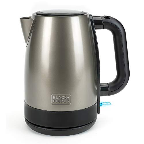 Black+Decker BXKE2201E Hervidor de agua electrico, 2200 W, 1.7 litros, Acero Inoxidable, Inox