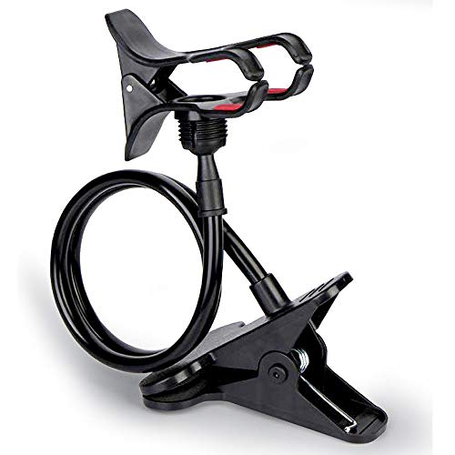 SBA Mobile Stand Holder Metal -Cell Phone Stand Perfect for Video Table Online Class  Home  Bed Bike Movie Office Gift Desktop  Foldable Lazy Bracket Clip Mount Multi Angle Clamp for All Smartphones