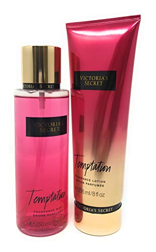 Set Victoria's Secret Temptation Body Mist 250 ML + Crema 236 ML