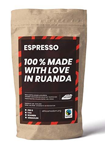 ESPRESSO 250 g, 100 % made with love in Ruanda