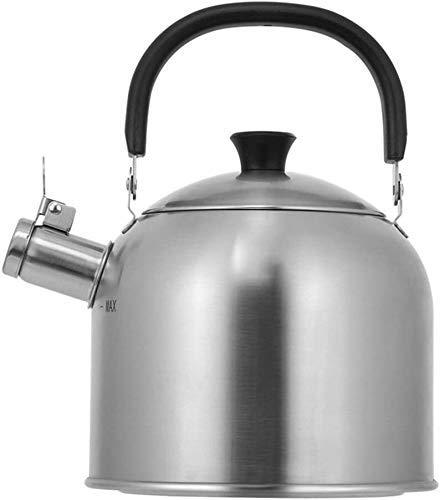 Cocina Cocina Litro Acero Inoxidable Silbido Té casero Bebida Caliente Camping Pesca para vitrocerámica de Gas