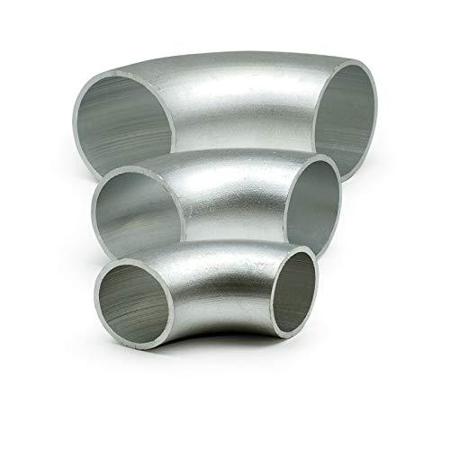 1x Aluminium Rohrbogen 90° Norm 3 Ø 45x3mm AW 6060 - Alu Schweißbogen - Rundrohrbogen Hosenrohr AlMgSi - Aluminium Rohrbögen in verschiedener Stückzahl