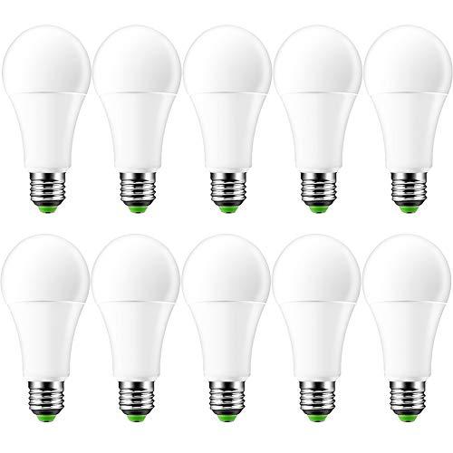 OurLeeme Farbige Leuchtmittel Dimmbar, E27 15W RGB 16 Farbe Fernbedienung Energy Saving Glühbirne für Hausdekoration Bar Party KTV Bühne (Batterie nicht enthalten) (10PCS, RGBW KaltesWeiß)