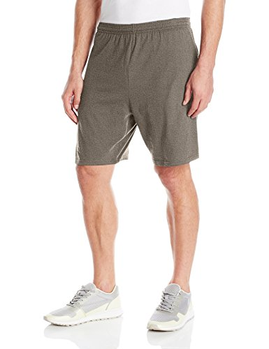 Hanes Men's Jersey Short with Pockets, Camo Green Heather, Large